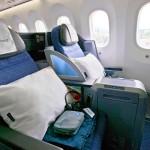 United Boeing 787 Dreamliner Business Class Cabin