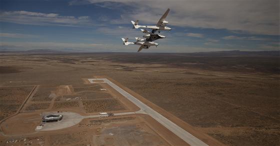 Virgin Galactic spaceport runway