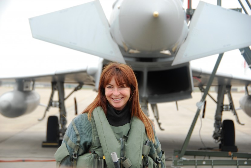 Suzi Perry and an RAF Typhoon to launch the Air Tattoo
