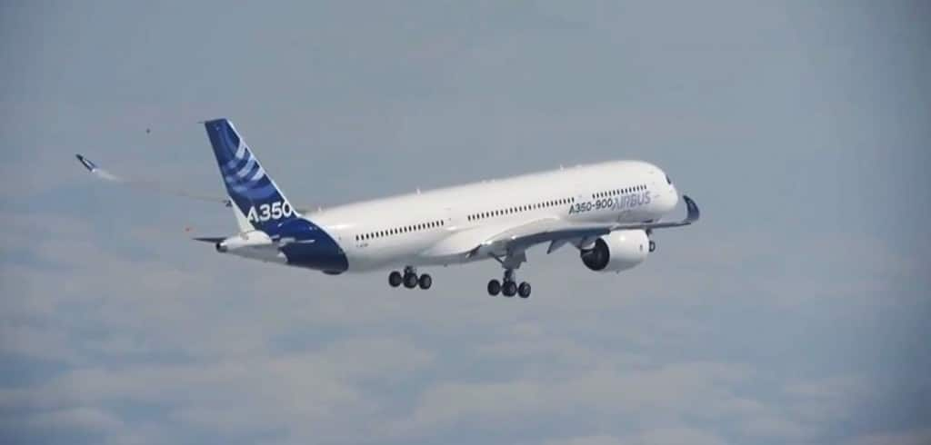 You can see the new wing shape on the A350