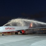 airberlin Airbus A330 arrives at Abu Dhabi airport