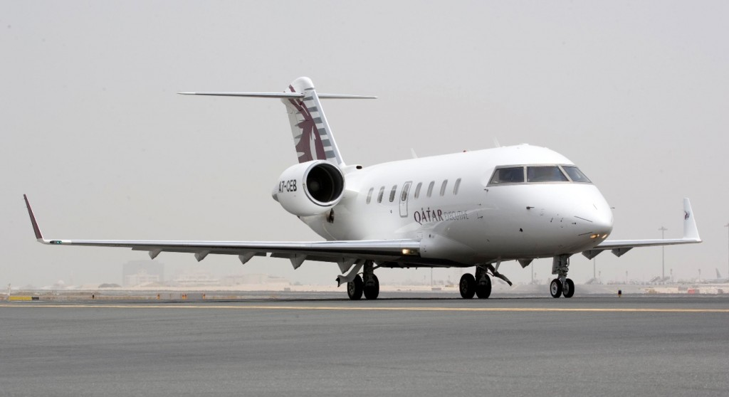 A Qatar Executive Bombardier business jet